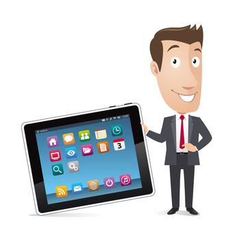 Business character - Tablet, smartphone